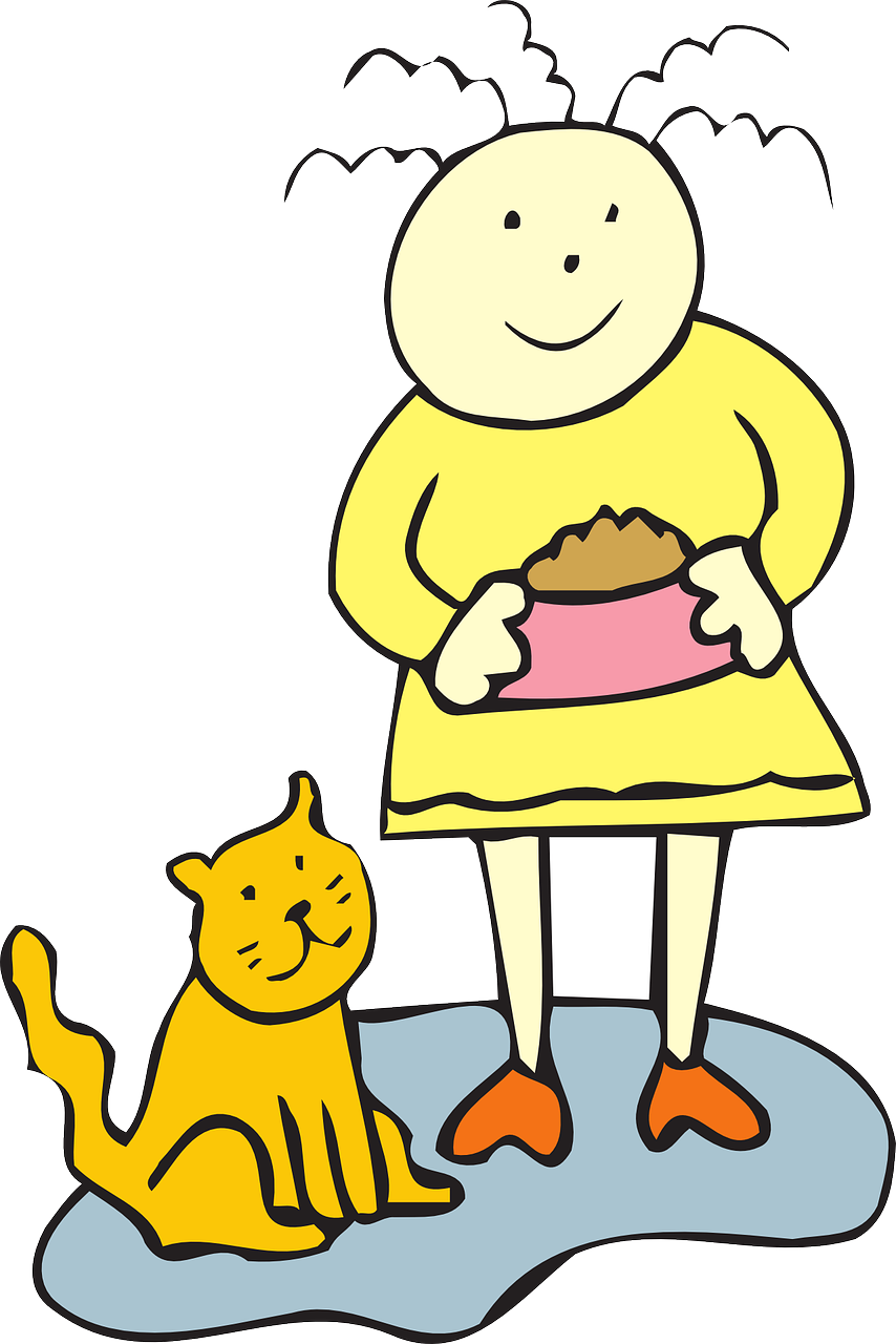Feed cat clipart image stock Cat Food Bowl Girl Child Pet PNG Image - Picpng image stock