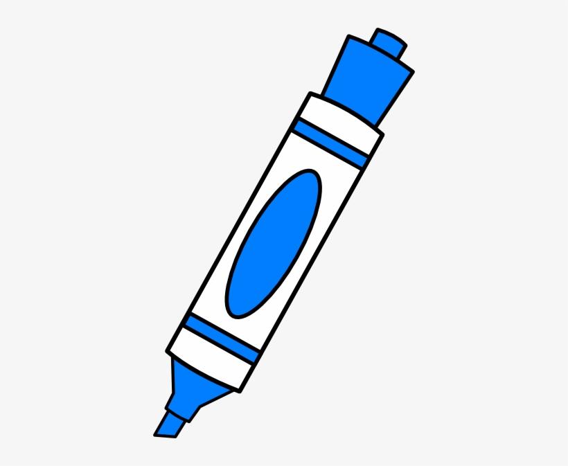 Marker clipart image image transparent library Blue Color Marker Clip Art - Dry Erase Marker Clipart - Free ... image transparent library