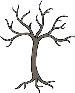 Dry trees clipart jpg freeuse download Bare Dead Tree Clip Art at Clker.com - vector clip art online ... jpg freeuse download
