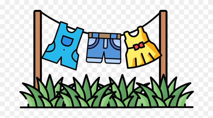 Clothes on clothesline clipart freeuse library Dry Your Clothes On A Drying Rack Or A Clothesline Clipart (#2773530 ... freeuse library