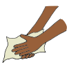 Drying hands with paper towel clipart clip library library Wash Hands Pictures for Classroom and Therapy Use clip library library