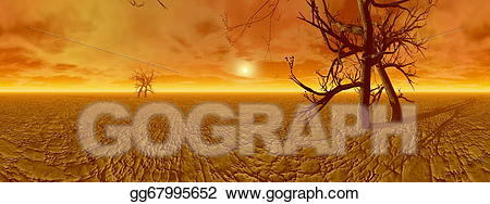 Dryness clipart svg free stock Stock Illustration - Dryness in desert - 3d render. Clipart Drawing ... svg free stock