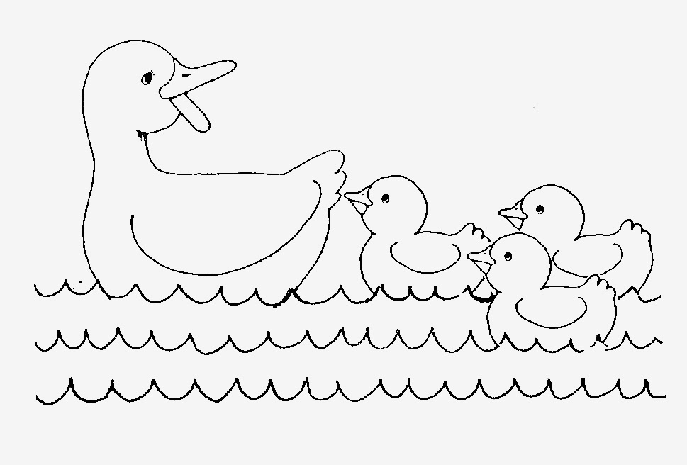 Duck and duckling clipart black and white svg royalty free library Baby Duck Drawing at PaintingValley.com | Explore collection of Baby ... svg royalty free library