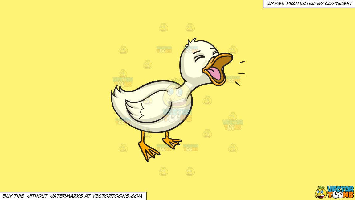 Duck quack clipart library Clipart: A Quacking Duck on a Solid Sunny Yellow Fff275 Background library