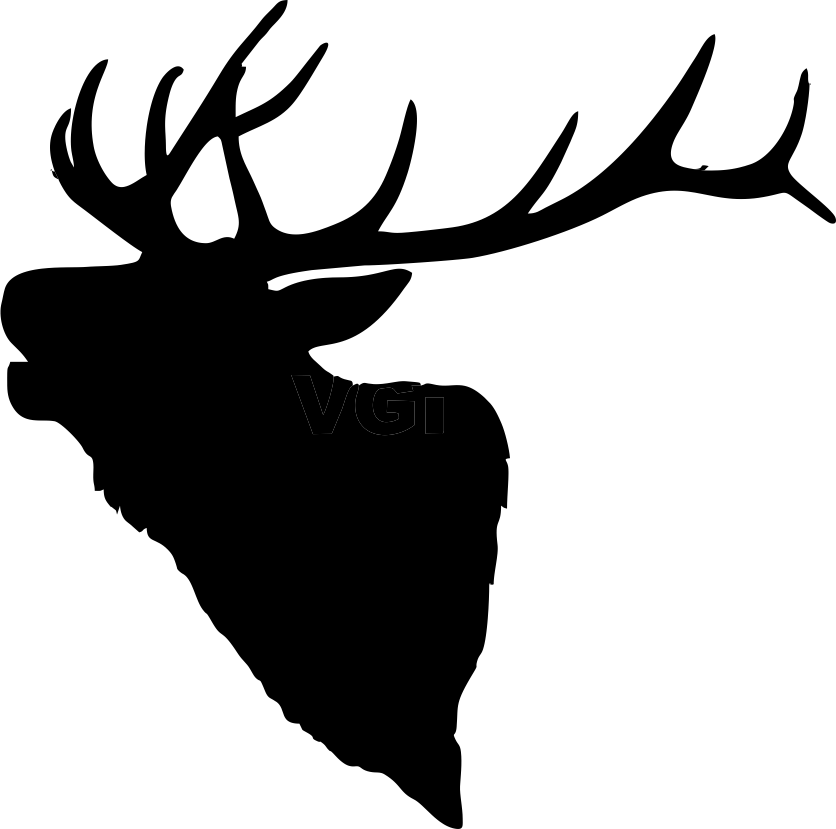Runing deer with a cross clipart picture library stock Elk Head Silhouette 836 x 829 .png | stencils | Pinterest | Elk ... picture library stock