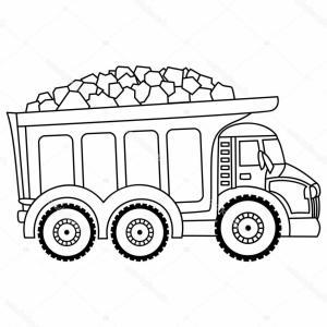 Dump truck clipart black and white banner library stock Stock Illustration Vector Dump Truck Black And | SOIDERGI banner library stock