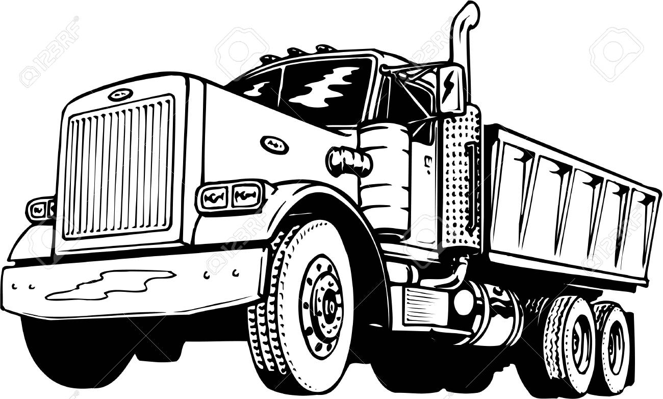 Dump truck clipart black and white freeuse download Dump truck clipart black and white 5 » Clipart Station freeuse download