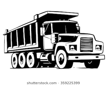 Dump truck clipart black and white svg free library Dump truck clipart black and white 1 » Clipart Station svg free library