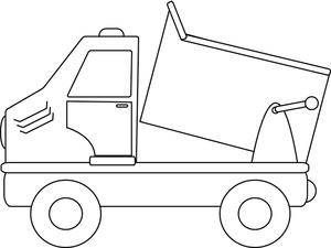 Dump truck clipart dumping black and white picture library download Dump Truck Clipart Image - Drawing of a dump truck dumping it\'s load picture library download
