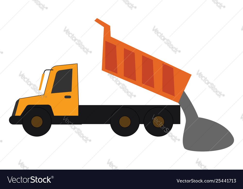 Yellow dump truck clipart graphic royalty free download Clipart a yellow dump truck in operational graphic royalty free download
