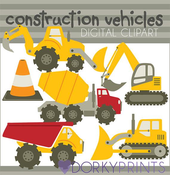 Dump truck dirt construction pdf clipart free graphic transparent Construction Vehicles Clipart Set -Personal and Limited Commercial ... graphic transparent