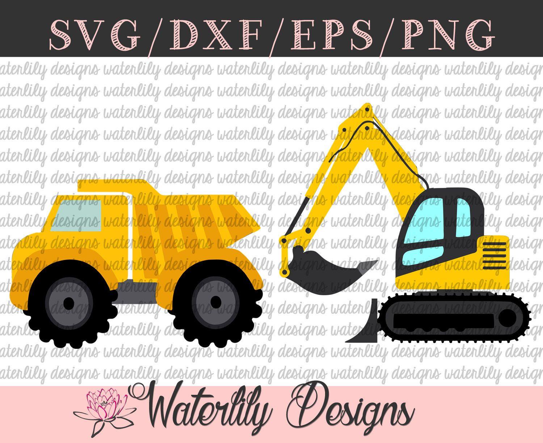 Dump truck dirt construction pdf clipart free picture black and white Construction SVG Cut File - Instant Download - Dump Truck ... picture black and white