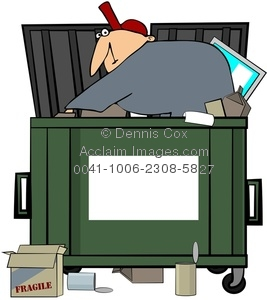 Dumpster pictures clipart picture black and white download Clipart Image: Dumpster Diving Man picture black and white download