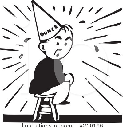 Dunce clipart clipart freeuse Dunce Clipart #210196 - Illustration by BestVector clipart freeuse