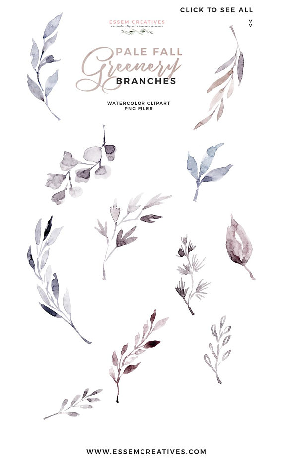 Winter greeny branches clipart banner freeuse library Fall Clipart, Watercolor Leaves Clipart, Frosty Winter Greenery ... banner freeuse library