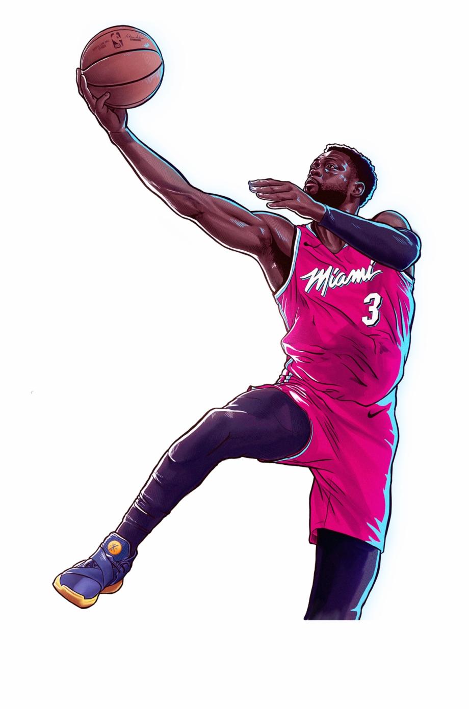 Dwyane wade clipart clipart royalty free stock Nba Dwyane Wade Bday Illustration - Slam Dunk Free PNG Images ... clipart royalty free stock