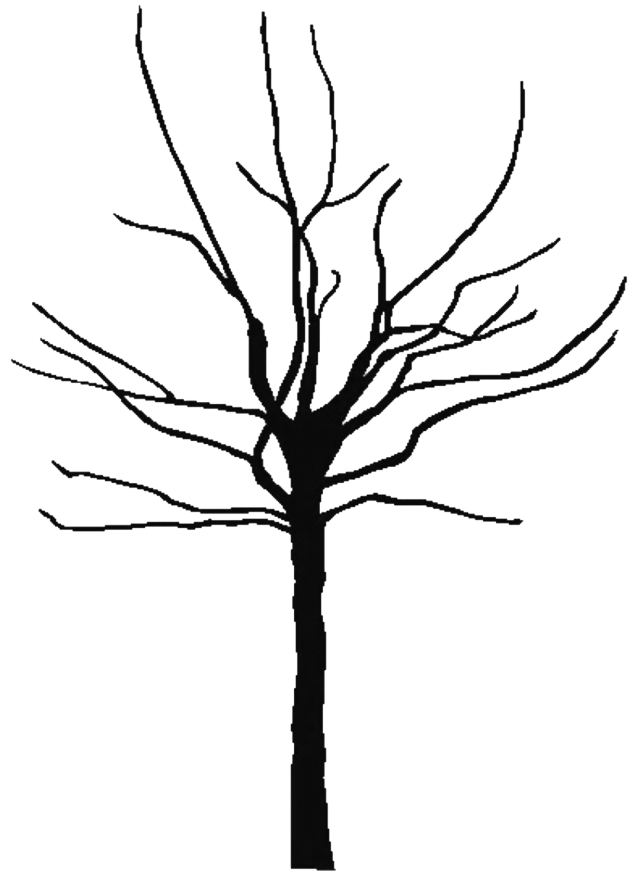 Half bare tree clipart svg free library Tree Trunk Outline (88+) Desktop Backgrounds svg free library