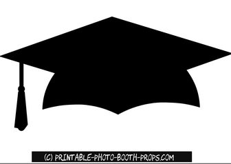 E 2018 graduate black and white clipart png black and white Free Printable Graduation Hat Photo Booth Prop | Felt Projects ... png black and white