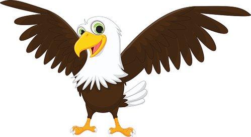 Eagle cartoon clipart clip royalty free stock Happy Eagle Cartoon premium clipart - ClipartLogo.com clip royalty free stock