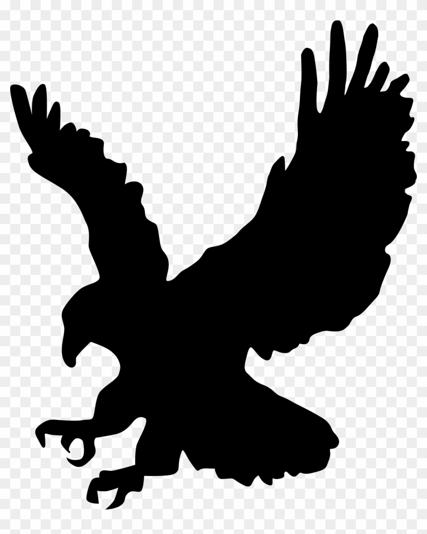 Eagle clipart black and white no background
