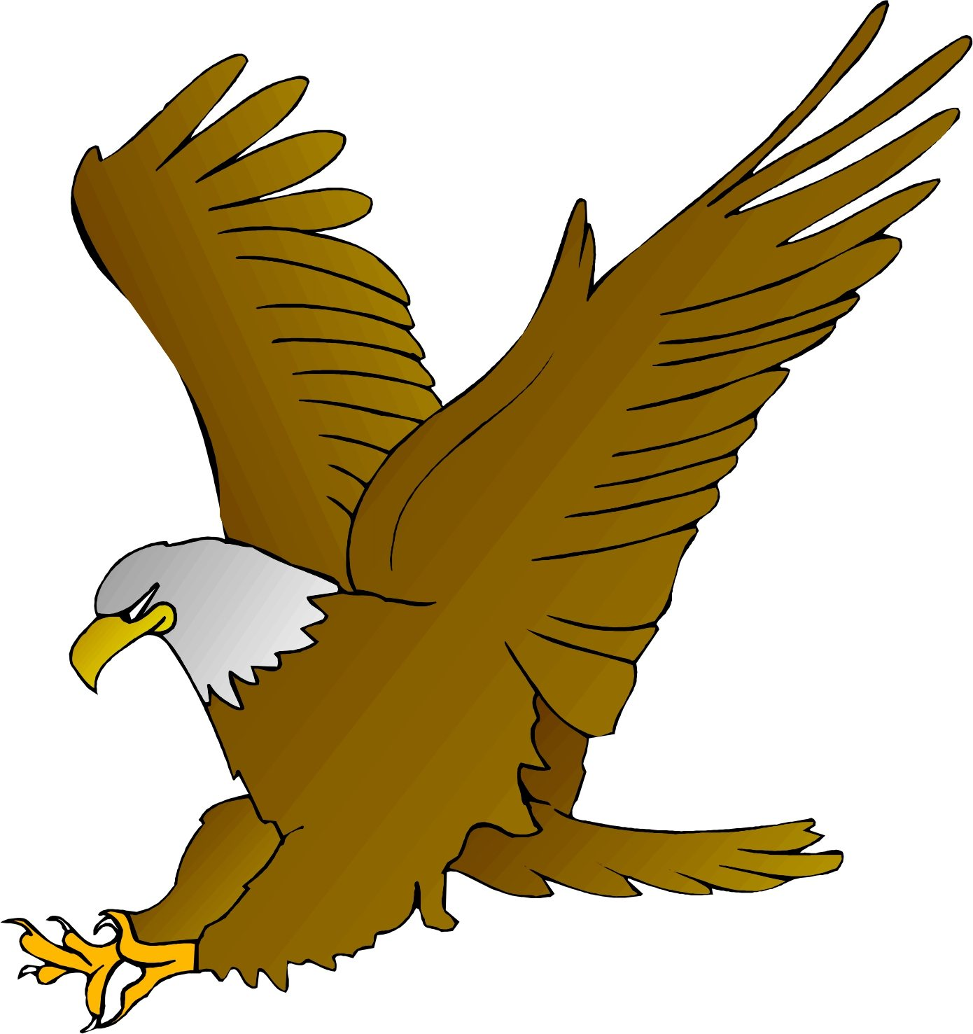 Eagle clipart cartoon image freeuse library Cartoon Eagle Clipart - Amos Elementary image freeuse library