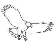 Eagle flying clipart black and white graphic freeuse stock Free White Eagle Cliparts, Download Free Clip Art, Free Clip Art on ... graphic freeuse stock