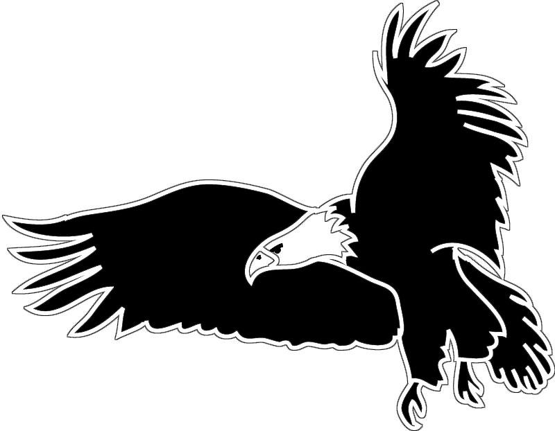 Eagle flying clipart black and white jpg stock Clipart of a black and white flying bald eagle free 2 - Clipartix jpg stock
