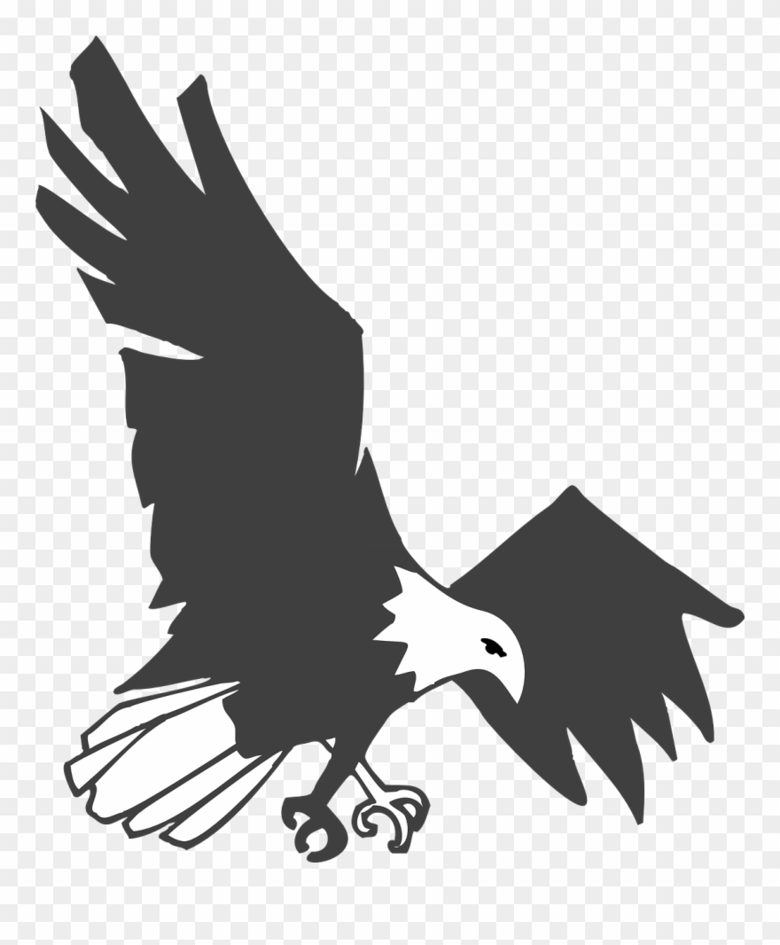 Eagle flying clipart black and white vector library Eagle Black White Bird Flying Png Image - Simaku The Eagles Brass ... vector library