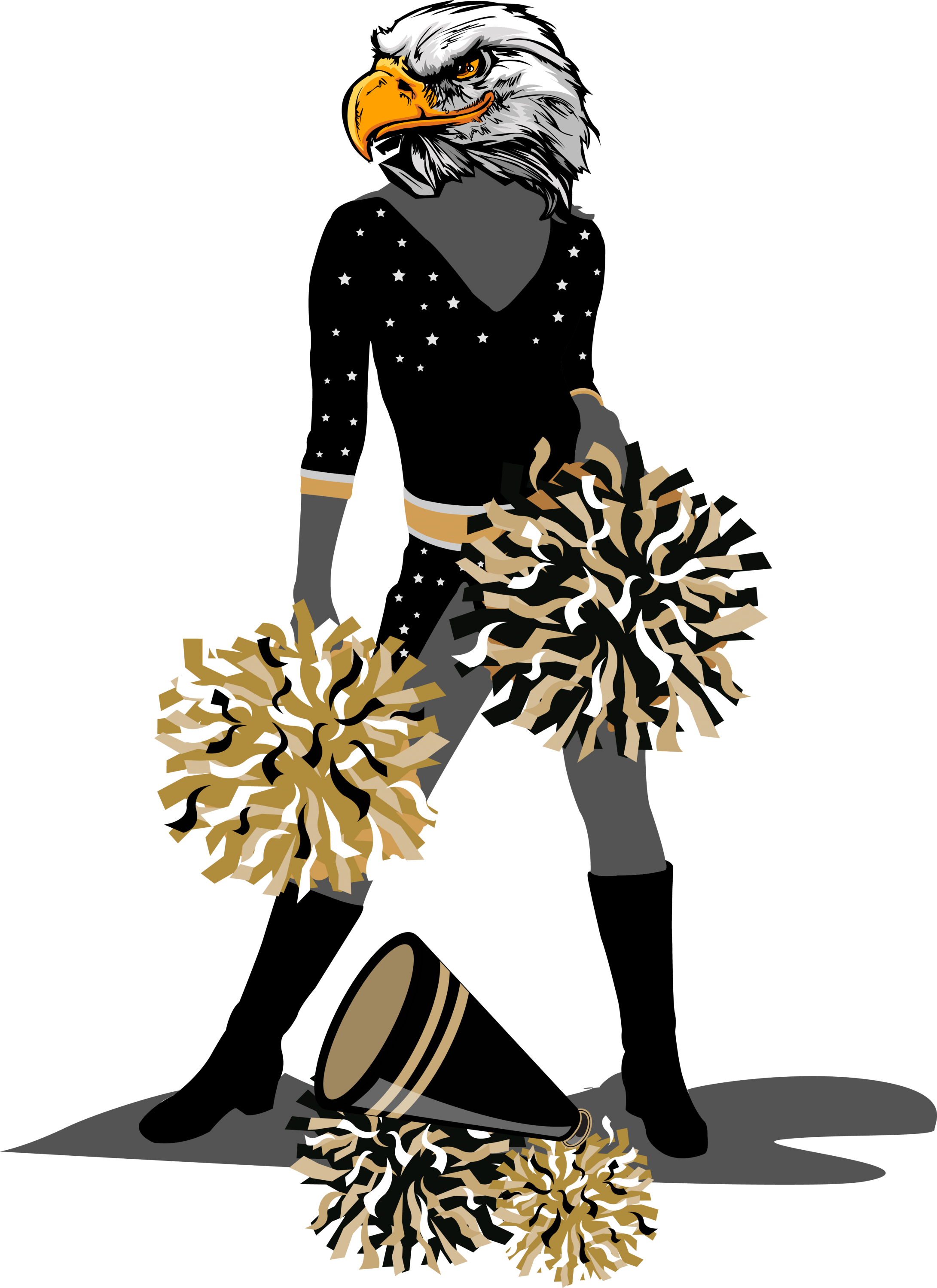 Drill team the allamerican. Eagle with football clipart