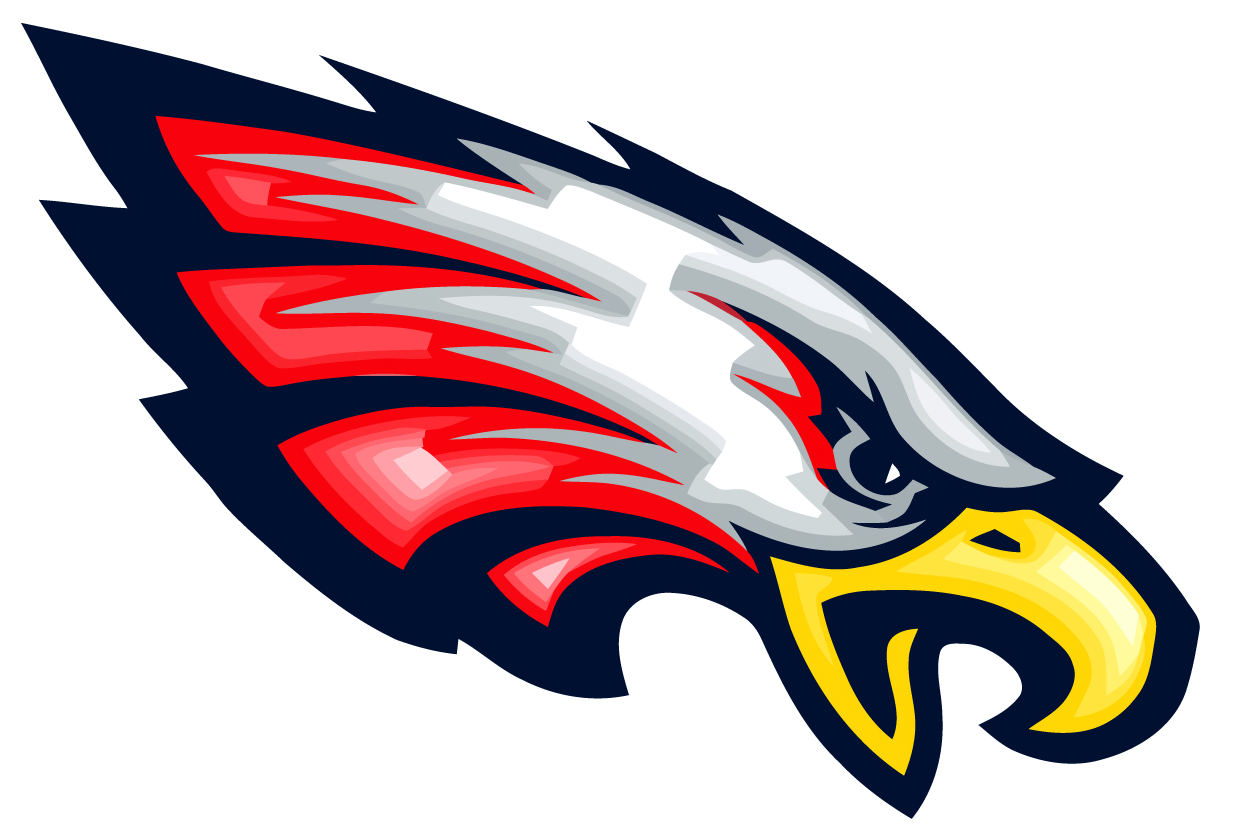 California school for the. Eagle with football clipart