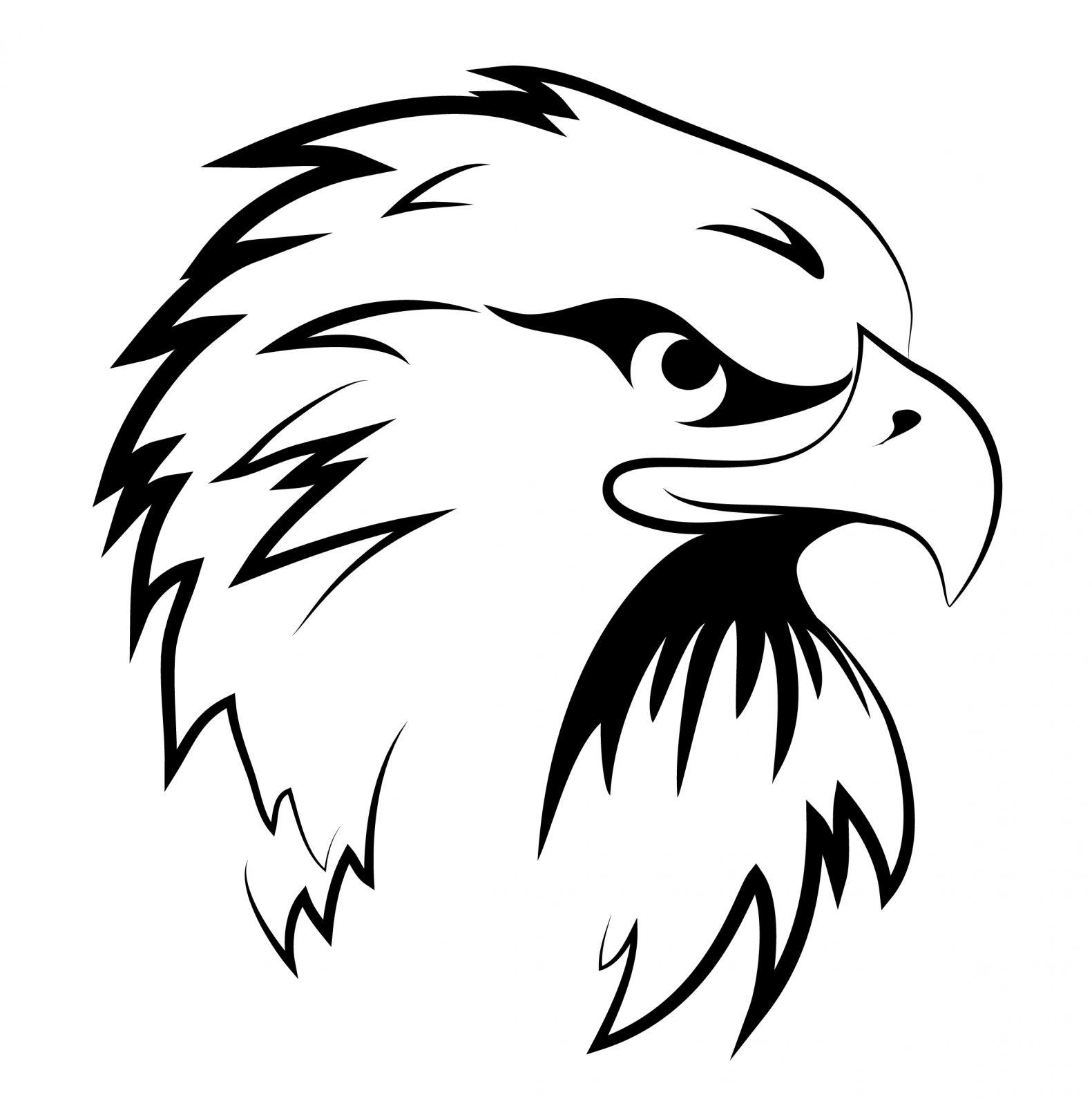 Eagle head clipart black and white jpg transparent stock Black and White Eagle Head Clipart | Eagle Coloring Pages | Eagle ... jpg transparent stock