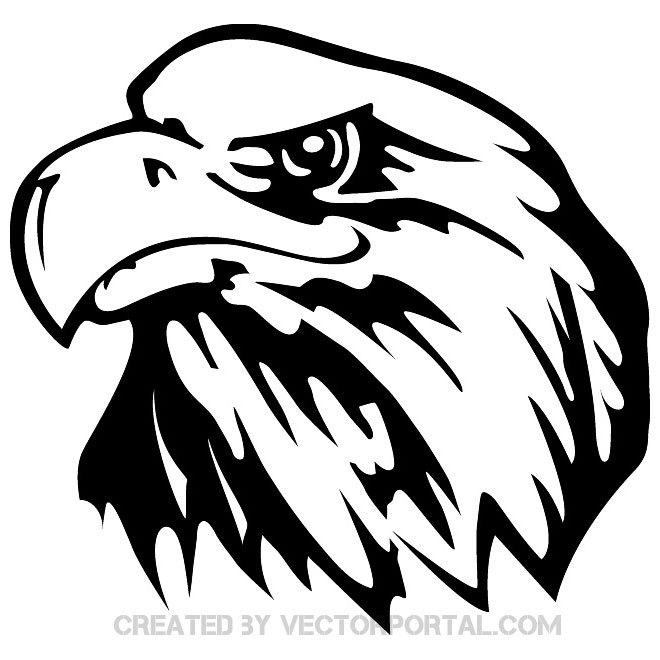 Eagle head clipart black and white jpg transparent stock Eagle head clipart black and white vector 8 » Clipart Portal jpg transparent stock