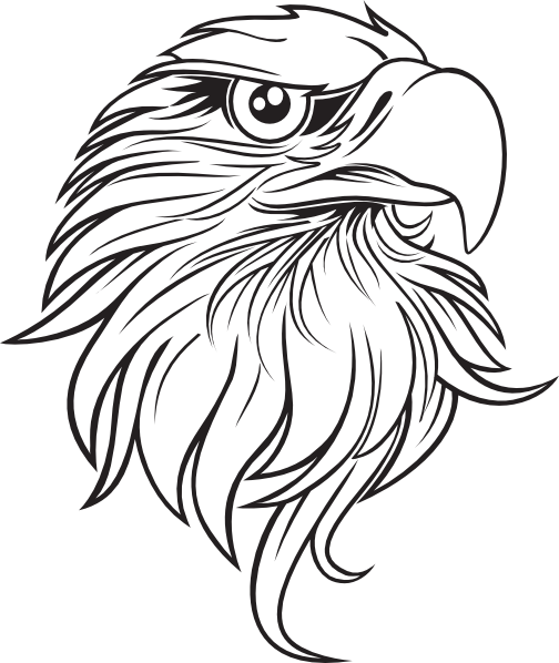 Eagle head clipart black and white svg royalty free Bald eagle tattoo designs may portray the bald eagle alone or with ... svg royalty free