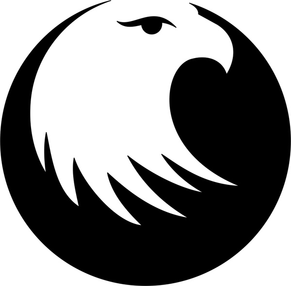 Eagle head clipart black and white vector freeuse Eagle head Free vector in Coreldraw cdr ( .cdr ) vector illustration ... vector freeuse