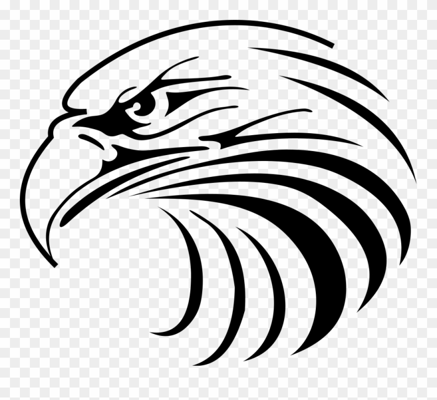 Eagle head clipart black and white png royalty free Svg Library Philippine Eagle Silhouette At Getdrawings - Eagle Head ... png royalty free