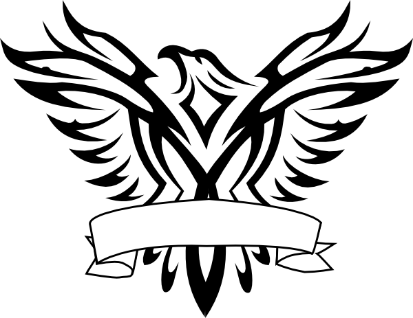 Eagle logo design black and white clipart