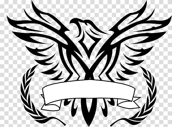 Eagle logo design black and white clipart banner Black bird border, Bald Eagle Logo Black-and-white hawk-eagle , Line ... banner