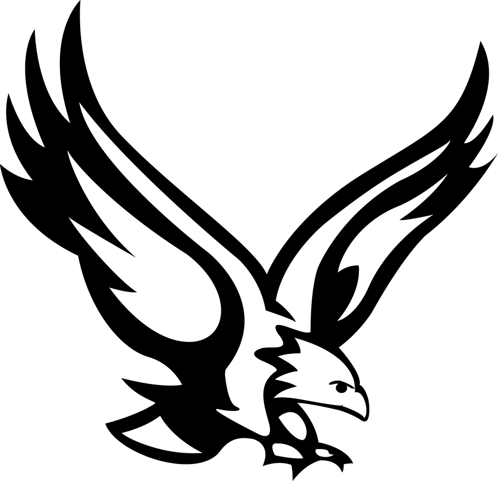 Eagle logo design black and white clipart png transparent library Philadelphia Eagles Logo Clipart   Free download best Philadelphia ... png transparent library