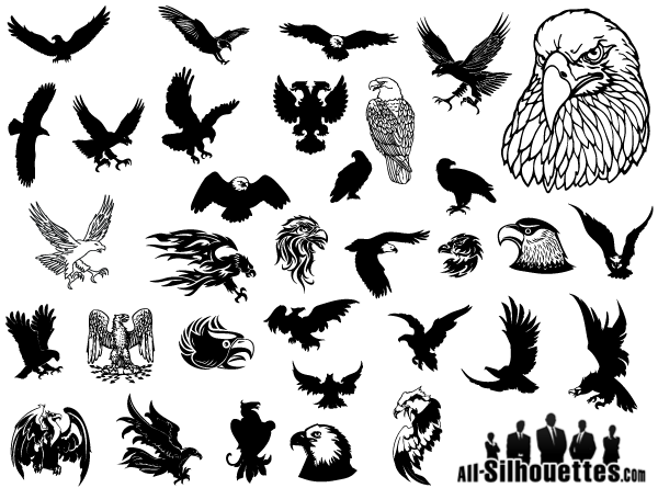 Eagle silhouette clipart free clip transparent library Eagle Vector Clip Art Free clip transparent library