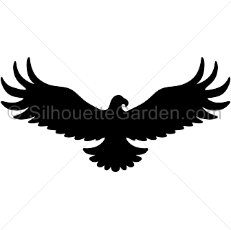 Eagle silhouette clipart free banner freeuse download Pin by Muse Printables on Silhouette Clip Art at SilhouetteGarden ... banner freeuse download