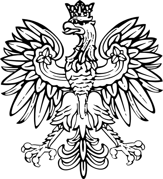 Eagle wearing a crown clipart svg royalty free stock Poland designs | Polish Eagle clip art - vector clip art online ... svg royalty free stock