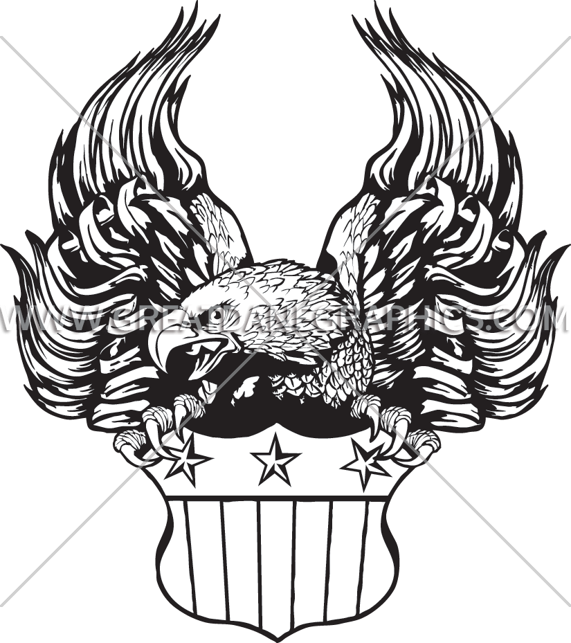And flag drawing at. Eagle with football clipart