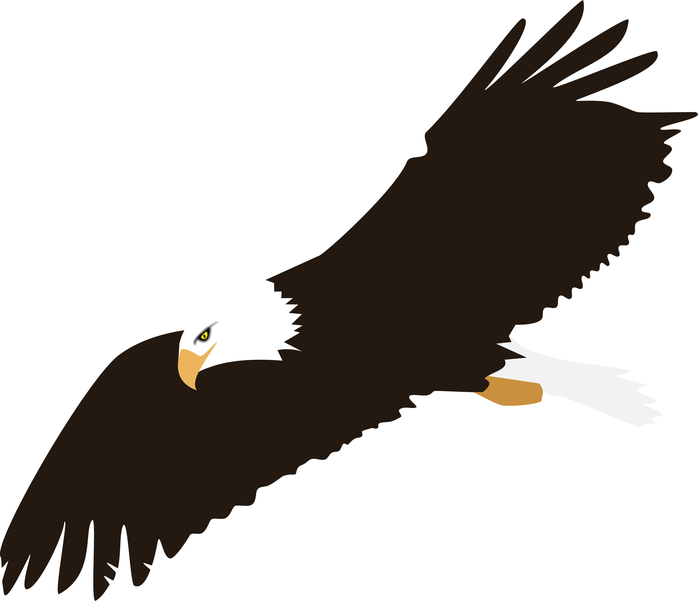 Free cliparts background download. Eagle with football clipart