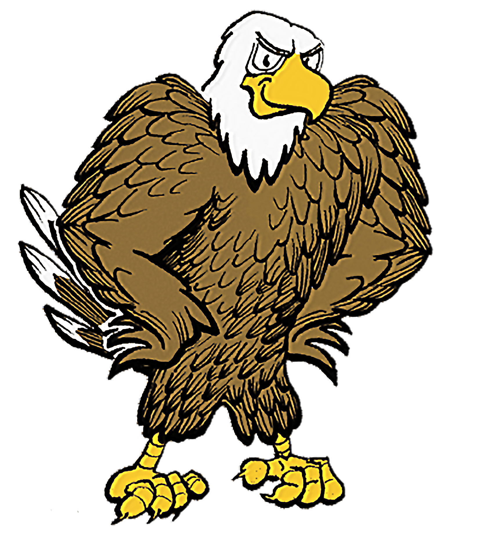 Eagle with football clipart. Fighting frames illustrations hd