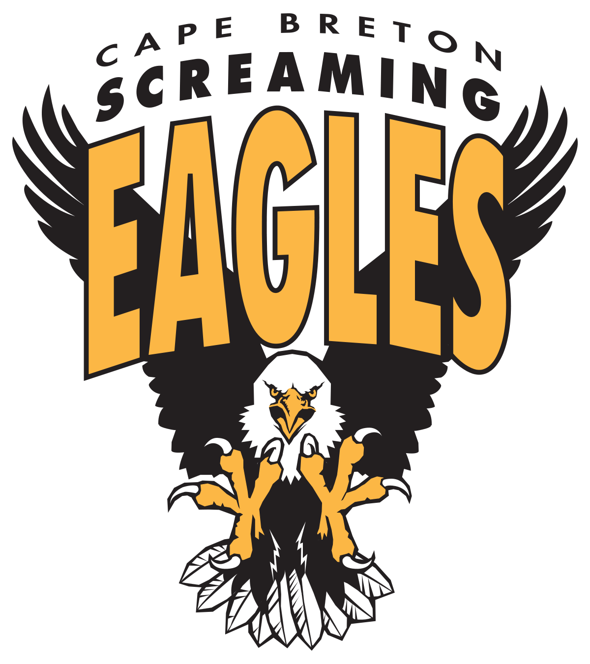 Screaming baseball vector clipart clip art library download Cape Breton Screaming Eagles - Wikipedia clip art library download