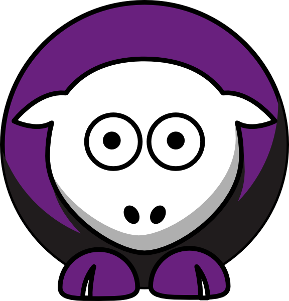 Sheep niagara purple team. Eagles football clipart