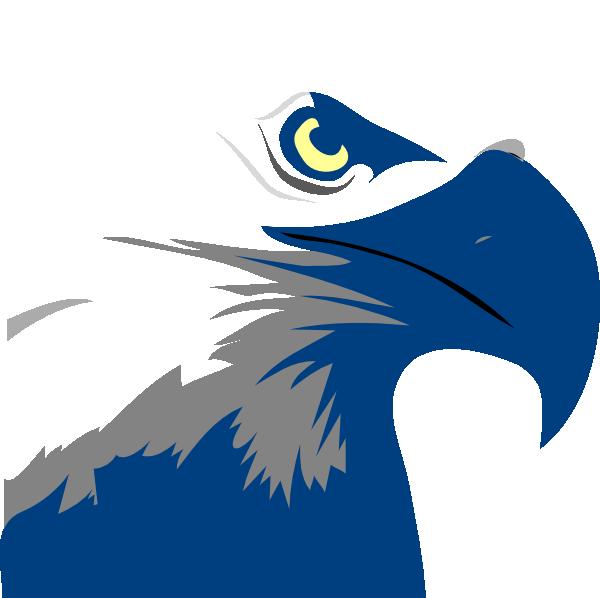 Logo blue eagle clip. Eagles football clipart
