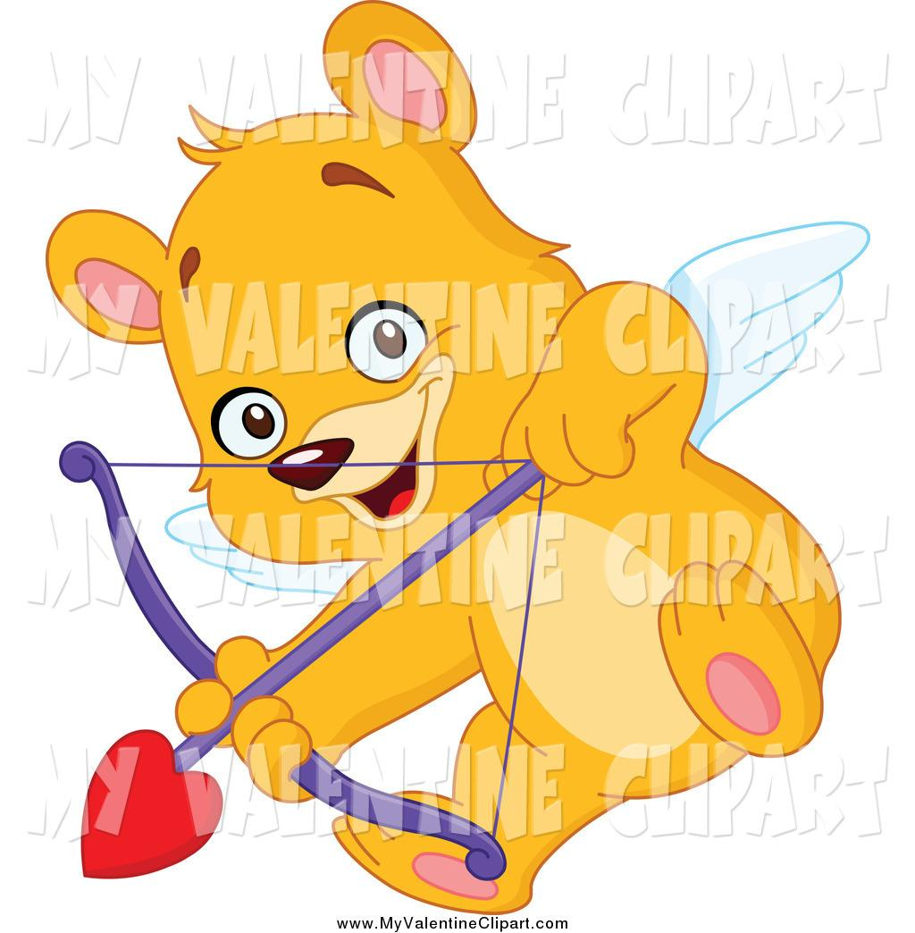 Ear clipart with arrow svg transparent library Valentine Clipart Of A Cupid Teddy Bear Aiming An Arrow By ... svg transparent library
