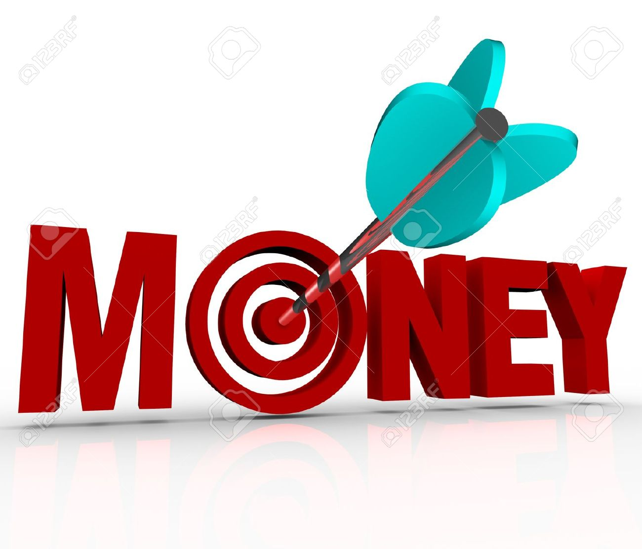 Ear clipart with arrow stock The Word Money In 3d Red Letters And An Arrow Shot Into The Center ... stock
