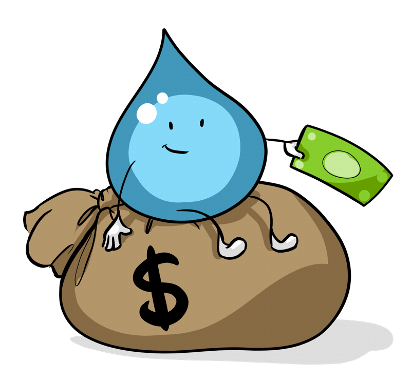 Financing your float center. Earning money clipart